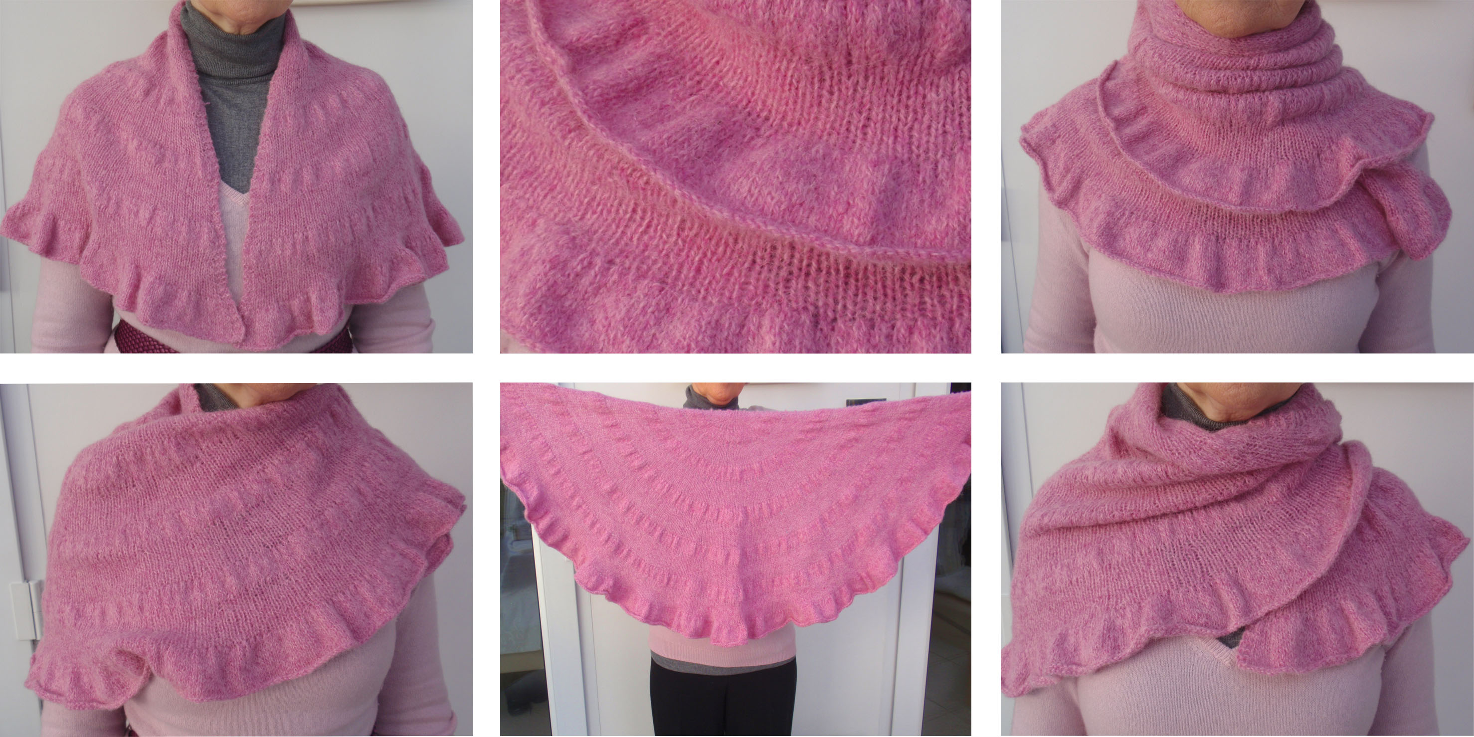 Free Knitting Pattern For Ruffled Shawl : Pampootie   Blog Archive   Pretty in Pink   Citron Shawl